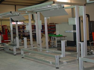Compro Estruturas aço inox e perfil de alumínio