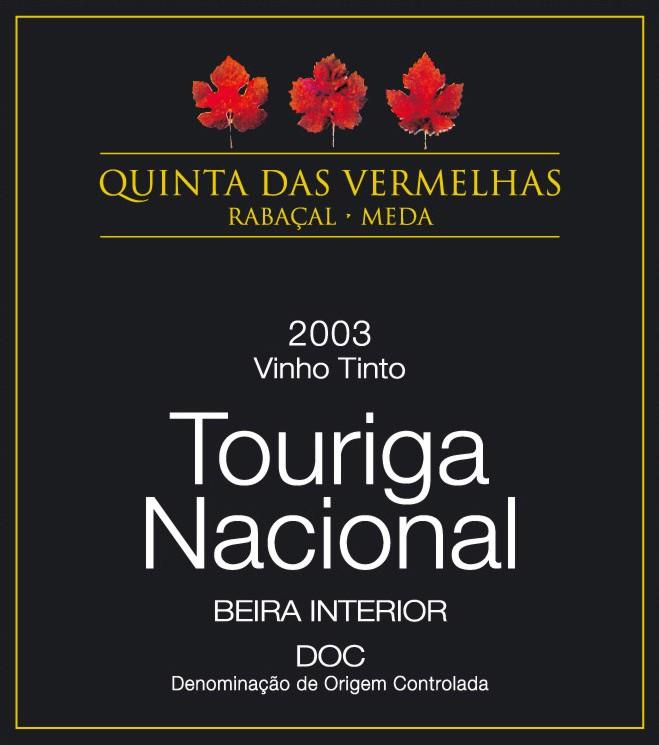Compro Quinta das Vermelhas Touriga Nacional 2003
