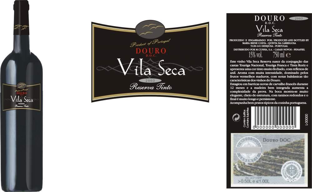 Compro VINHO TINTO VILA SECA RESERVA 0,75LT