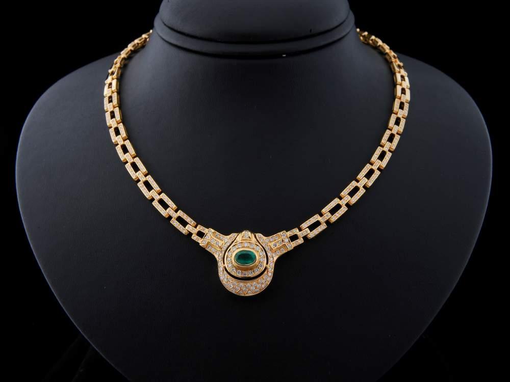 Compro Colar Ouro Com Diamantes e Esmeralda