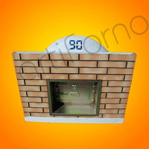 Comprar Wood Oven with Brick Panel and Chimney Door