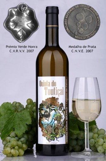 """Compro Vinho Verde Branco Arinto """"Qta do Toutiçal"""" 2007"""