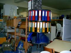 Diversos materiais para escritorio