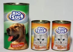 Alimentos enlatados para animais