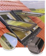 Janela de telhado basculante-giratória FPP