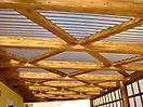 Tecto de telha acrilica ondulada