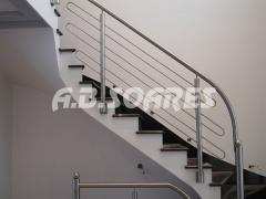 Escadas em aço inox