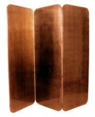 Biombos em folha de ouro, prata e cobre
