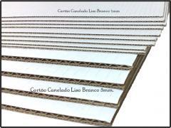 Cartão Canelado liso Branco 50x70 1mm, e 3mm