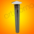 Stainless steel chimney 100 cm (stovepipe with an hat)
