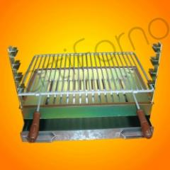Galvanized iron grill 60 x 40 cm (with one grid)