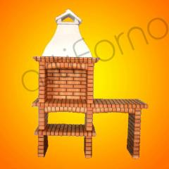 Brick Barbecue Grill (BBQ) - Ref 127