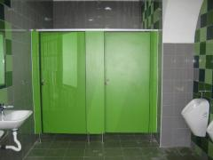 Partitions for toilets