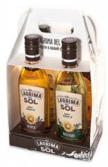 Óleo de girassol refinado Lagrima del Sol, com diferentes gostos