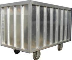 Carrinho em aluminio para malhas molhadas