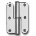 Dobradiça de 3 ½ polegadas com ½ balanço e cantos redondos