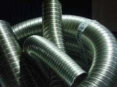 Tubo flexível simples em inox