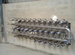 Painel de válvulas de carga