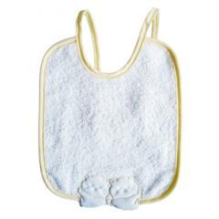 Babete de bebé com bordado