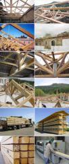 Vigas em madeira maciça
