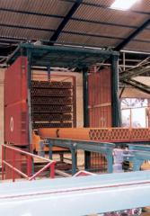 Carga/descarga de vagonas do secador