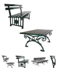 Bancos e mesas de jardim