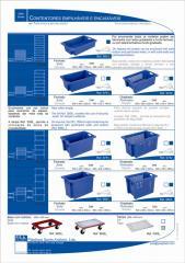Caixas empilháveis e encaixáveis