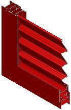 Sistema de portadas exteriores de 40 mm