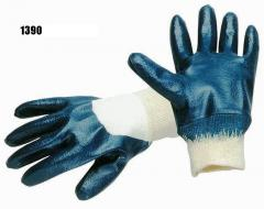 Luva nitrilo azul