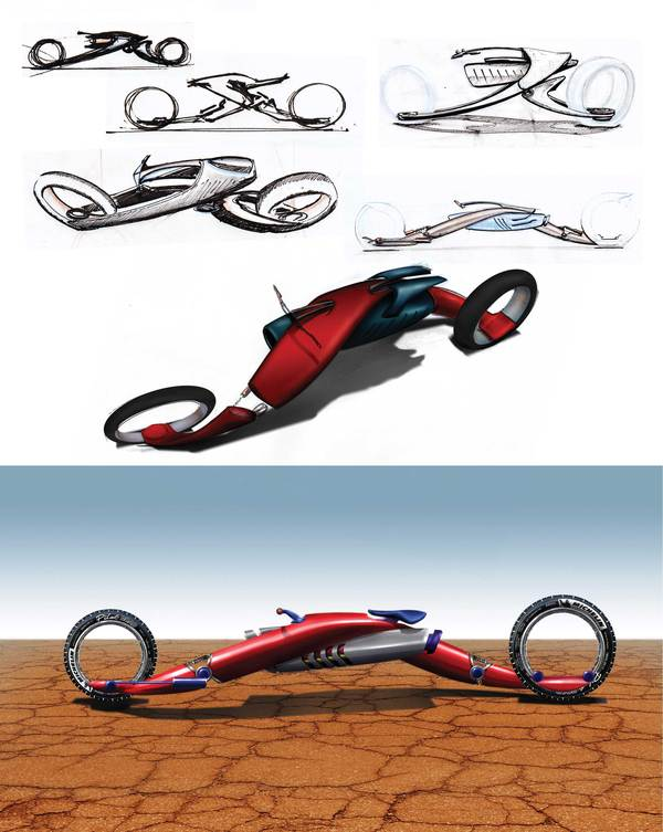 Strider - Super Herói Concept Motorcycle