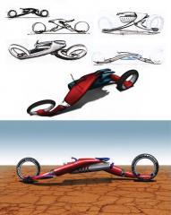 Strider - Super Herói Concept Motorcycle
